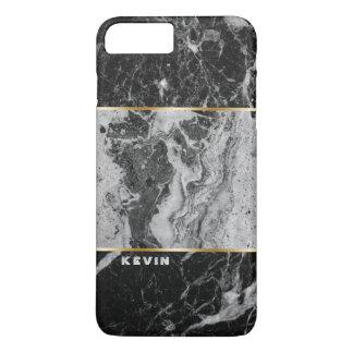 Black & Gray Faux Marble Combination iPhone 8 Plus/7 Plus Case