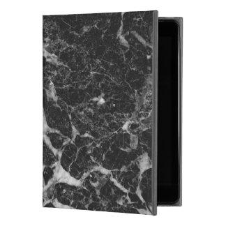 "Black & Gray Faux Marble iPad Pro 9.7"" Case"