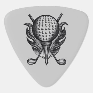 Black Gray Golf Ball Tee Clubs Course Golfer Gift Plectrum