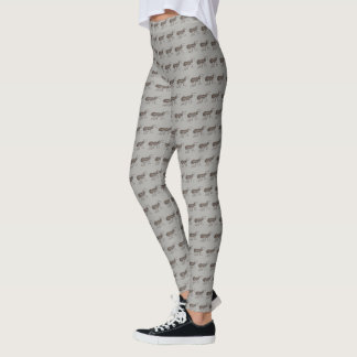 Black Gray Grey Insect Ants Marching Picnic Ant Leggings