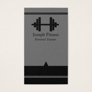 Black Gray Personal Trainer Fitness Business Card