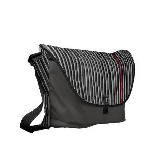 Black, Gray & Red Pin Stripes Mens Messenger Messenger Bags