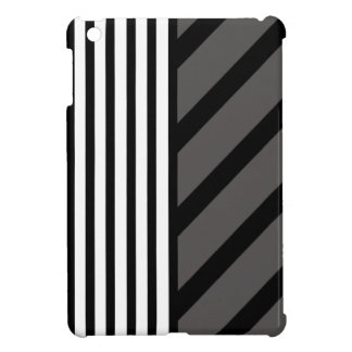 Black Gray Stripe iPad Mini Case
