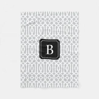 Black & Gray Trellis | Fleece Blanket
