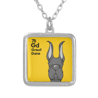 Black Great Dane - The Dog Table Square Pendant Necklace