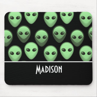 Black & Green Alien Mouse Pad