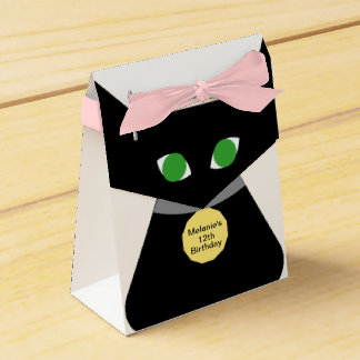 Black Green-eyed Cat Favour Box