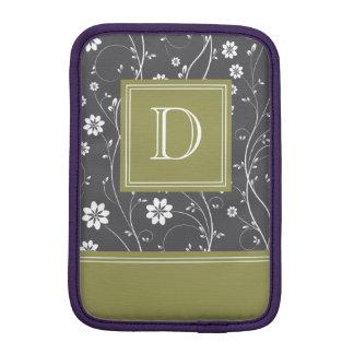 Black & Green Floral Sleeve For iPad Mini
