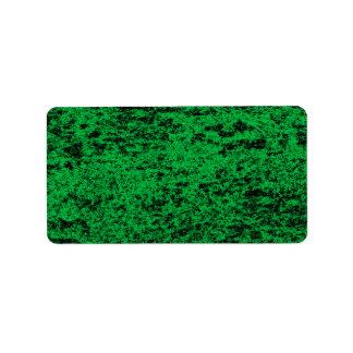 Black & Green Marble Address Sticker Address Label