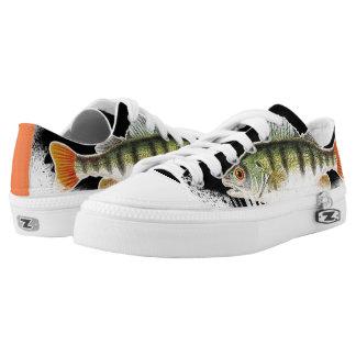 Black, Green & Orange Fish Printed Shoes