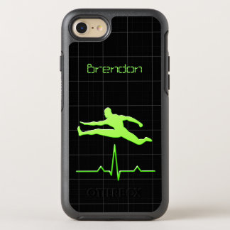 Black Green Personal Trainer Fitness Man Jumping OtterBox Symmetry iPhone 8/7 Case