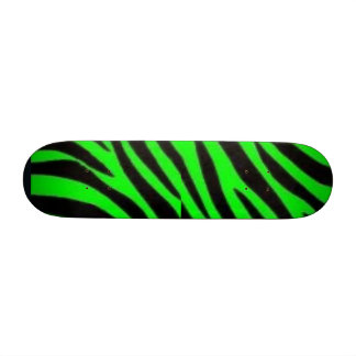 Black & green zebra custom skate board