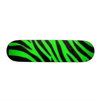 Black & green zebra custom skate board