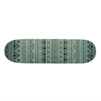 black&grey aztec pattern skateboard
