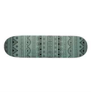 black&grey aztec pattern skateboard deck
