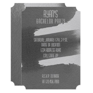 Black & Grey Bachelor Party Invitation