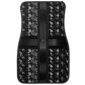 Black Grey Bling Abstract Car Mat