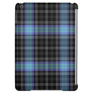 Black Grey Blue Purple Tartan Plaid iPad Air Case