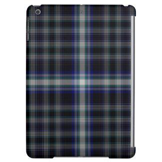 Black Grey Blue Tartan Plaid iPad Air Cover