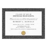 Black & Grey Border Diploma Graduation Invitation