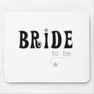Black/Grey Bride to Be Mouse Pad