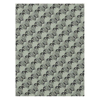Black & Grey Butterfly Tablecloth
