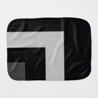 Black/Grey Color Corner (MB) Baby Burp Cloth