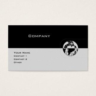 Black & Grey Globe Business Card