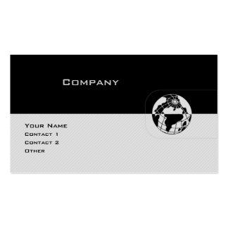 Black & Grey Globe Pack Of Standard Business Cards