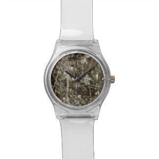 Black grey grunge digital graphic art design wristwatch