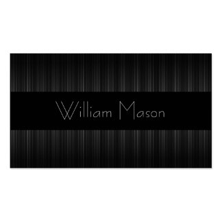 Black & Grey Pinstripe Professional Business Card