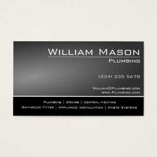 Black & Grey Skilled Tradesman Business Card