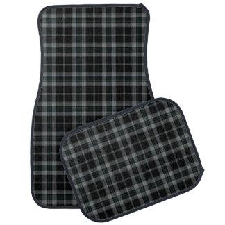 Black Grey Tartan Plaid Car Mat