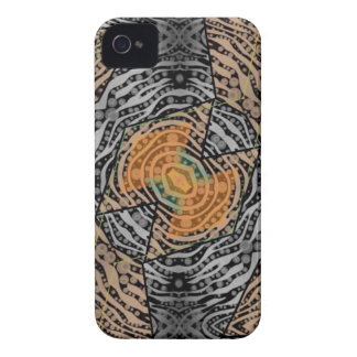Black Grey Zebra Abstract iPhone 4 Cover