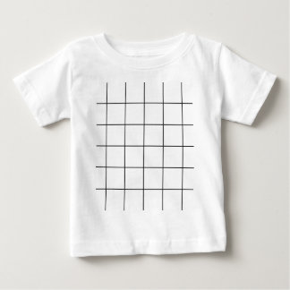 black grid ,   white background baby T-Shirt