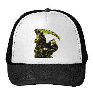 Black Grim Reaper Horseman Yellow Neon by Valpyra Mesh Hat