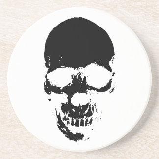 Black Grim Reaper Skull Coaster