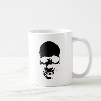 Black Grim Reaper Skull Coffee Mug