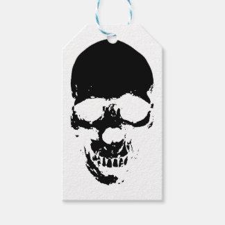 Black Grim Reaper Skull Gift Tags