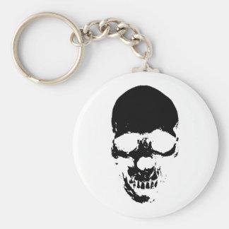 Black Grim Reaper Skull Key Ring