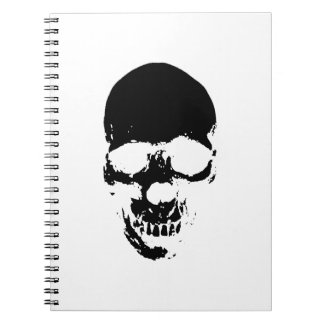 Black Grim Reaper Skull Notebook