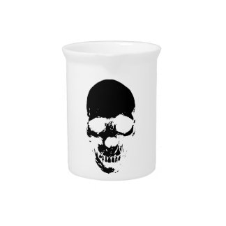 Black Grim Reaper Skull Pitcher