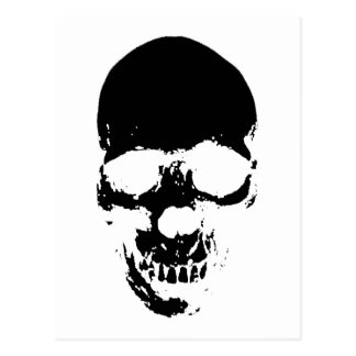 Black Grim Reaper Skull Postcard