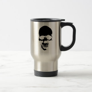 Black Grim Reaper Skull Travel Mug