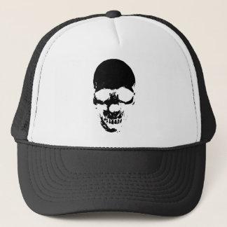 Black Grim Reaper Skull Trucker Hat