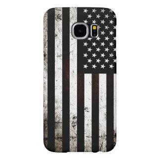 Black Grunge American Flag 2