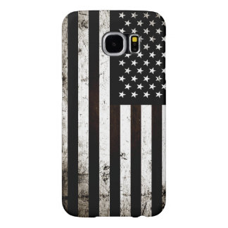 Black Grunge American Flag 2 Samsung Galaxy S6 Cases