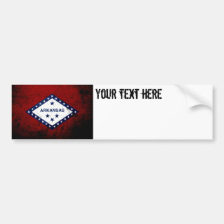 Black Grunge Arkansas State Flag Bumper Sticker