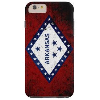 Black Grunge Arkansas State Flag Tough iPhone 6 Plus Case