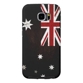 Black Grunge Australia Flag 2